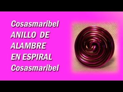 Anillos-sortija de alambre de aluminio espiral