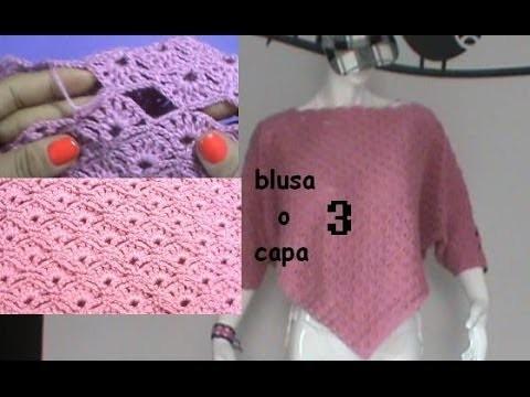 Blusa Triangular, fácil de tejer GANCHILLO PARTE 3