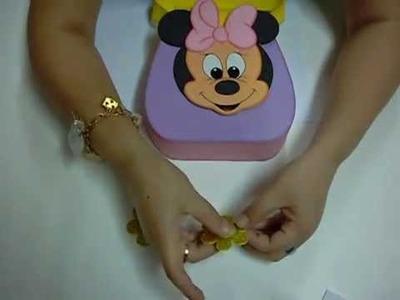 Bolsita Minnie Mouse en Foami, Goma Eva, Microporoso