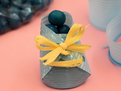 Botita de bebé para chuches. Baby shower favor box