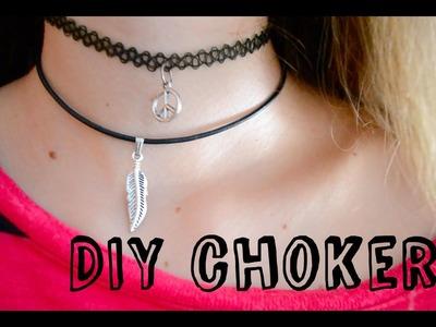 Collar y Gargantilla DIY muy fácil!!. DIY easy choker and tattoo choker | VLOGS EVRIGÜER