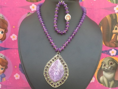 Como hacer el collar de  Princesita Sofia