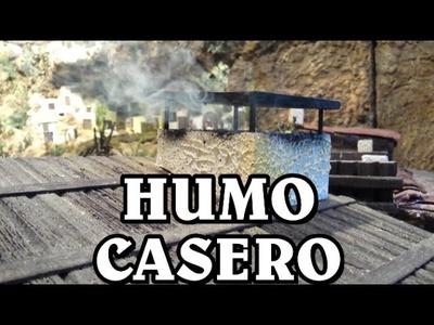 COMO HACER HUMO CASERO PARA LA CHIMENEA Y FUEGO DEL PESEBRE, BELÉN - SMOKE FOR BELÉN
