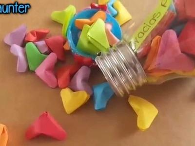 Como hacer mini corazones de papel {VR Craftingeek}. Manualidad para san valentin