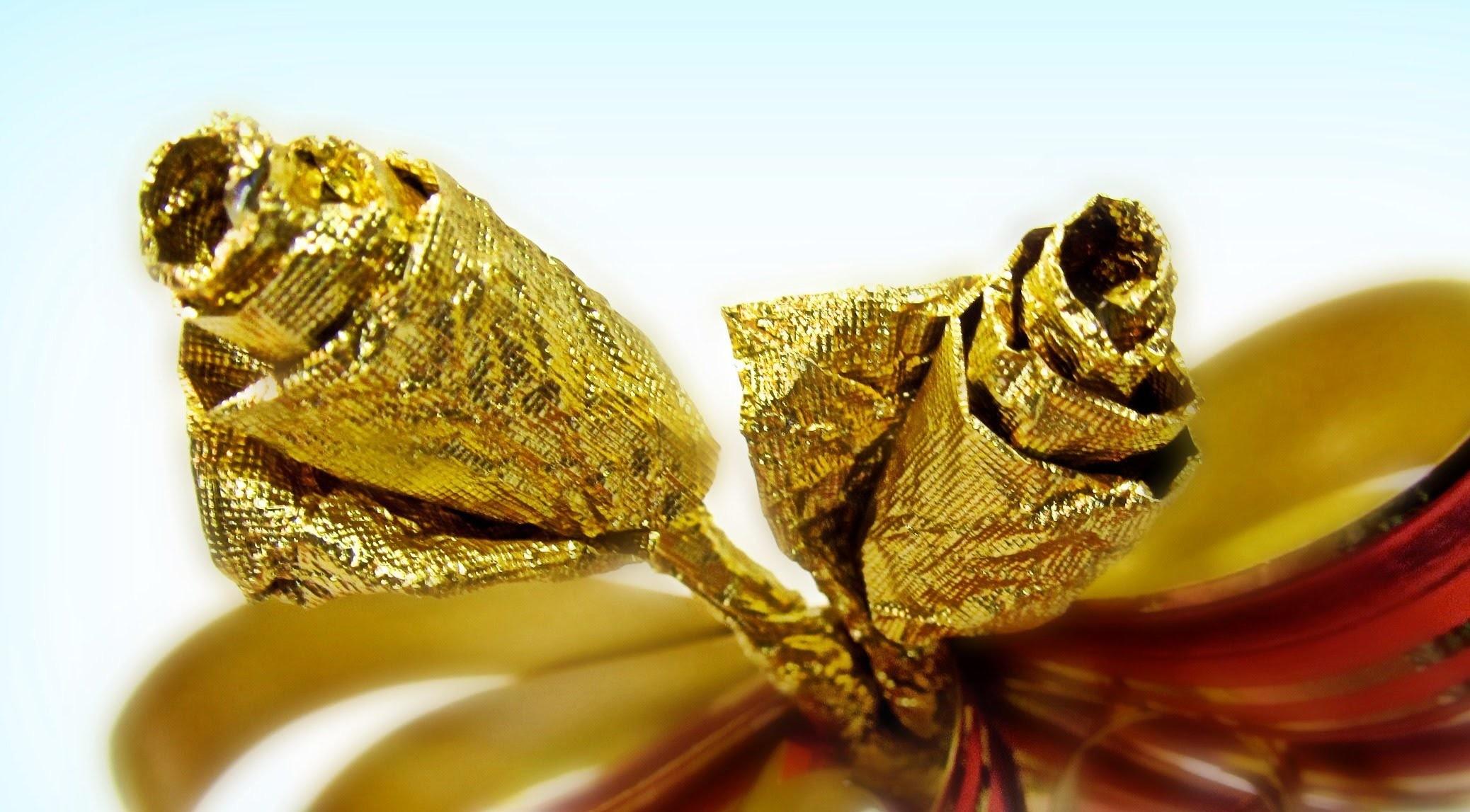 Cómo hacer mini rosas para regalo. Gift roses.