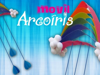 Como hacer: Móvil de Arcoiris de papel! ((Fácil y rápido))