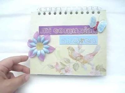 Cómo hacer un lindo libro de recuerdos.
