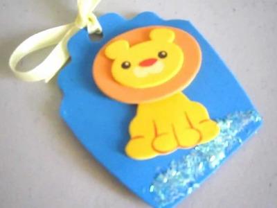Cómo hacer una etiqueta para regalos infantiles con  fommy