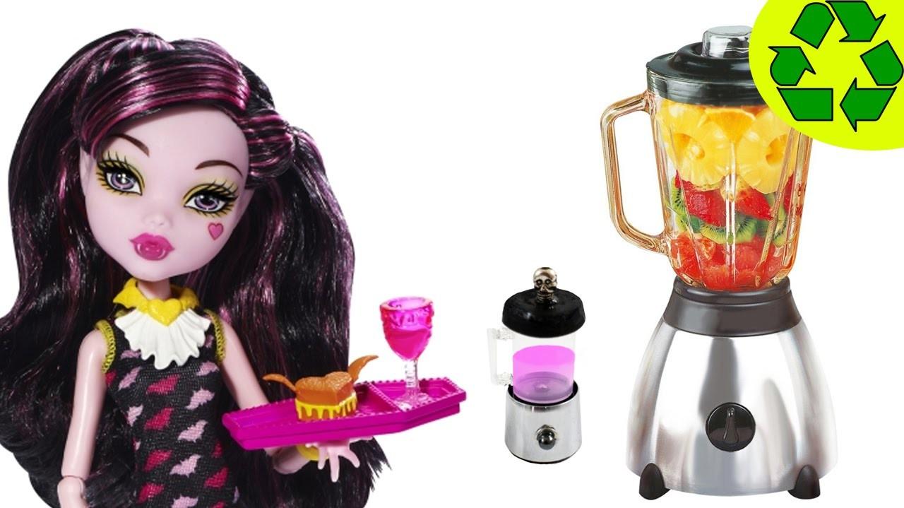 Cómo hacer una licuadora, batidora realista para muñecas - Manualidades para muñecas