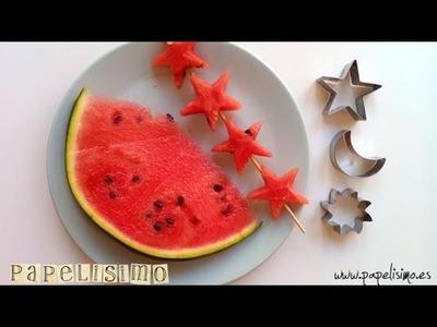 Cómo recortar fruta fácil