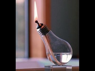 (DIY) Cómo hacer una vela de alcohol con una bombilla reciclada.