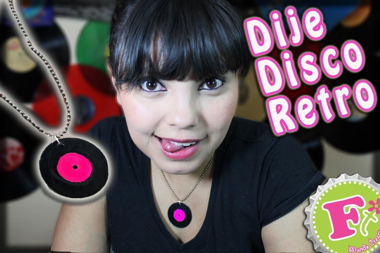 DIY: Dije de Disco Retro con TAZOS. Vinyl Record charm