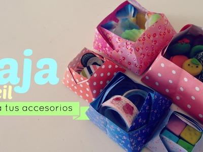 DIY : haz tu propia  caja de papel para tus accesorios  ( facil )