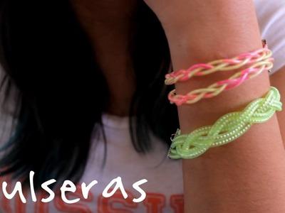 DIY Ideas para hacer pulseras de colores. Accesorios de Moda - Hablobajito