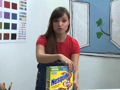 Dominó de caja de cereales - Manualidades Nestlé