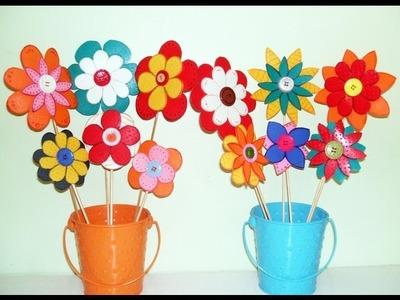 FLORES GOMA EVA O CARTULINA, FIORI DI EVA O CARTA,FOAMY FLOWER.m4v