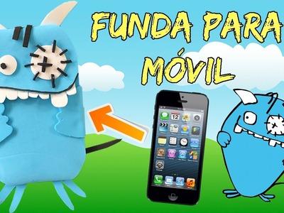 FUNDA para movil celular de goma eva * MONSTRUO azul