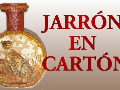 JARRÓN EN CARTÓN