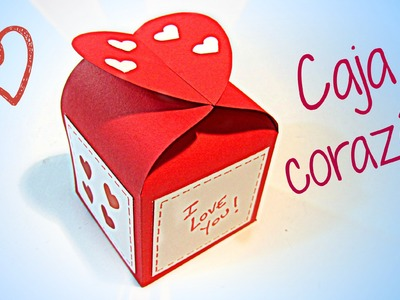 Manualidades para San Valentín: Caja corazón.