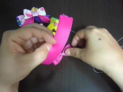 Moños pequeños para clips o ganchos del cabello en cinta gross o raso  No.81