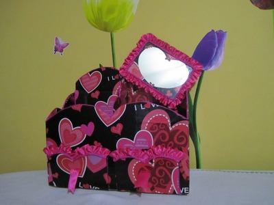 Organizador para maquillaje en forma de corazon wmv