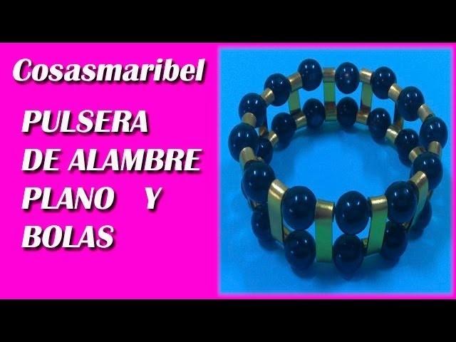 Pulsera de alambre plano.Wire bracelet