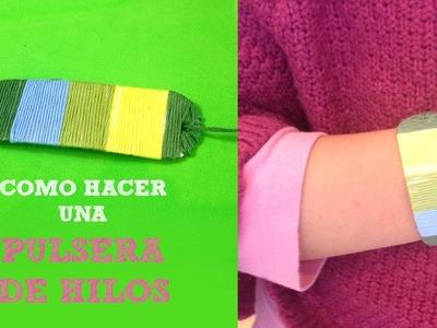 Pulsera de hilo y cartón | Manualidades para niños
