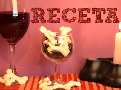Receta para HALLOWEEN o DIA DE MUERTOS | Huesitos y Sangre Recetas de cocina faciles