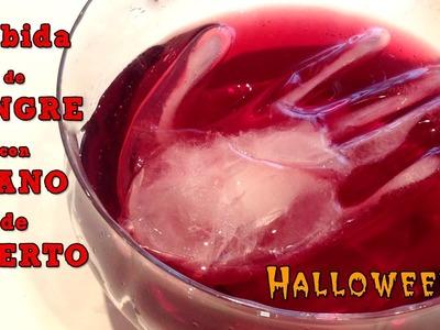 Recetas para halloween: Ponche de sangre con mano de muerto
