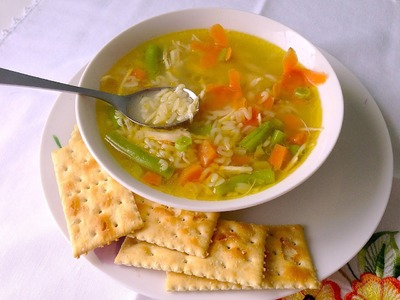 Sopa de letras con pollo - Fácil de hacer - La receta de la abuelita