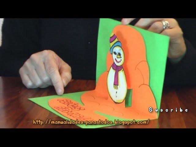 Tarjeta 3D de Navidad - Manualidades para todos