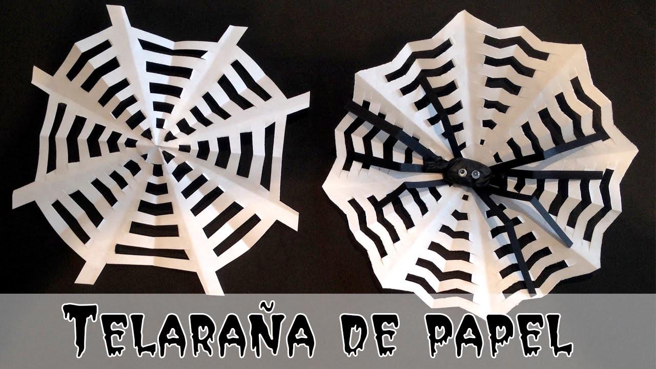 Telaraña de papel: Manualidades de Halloween