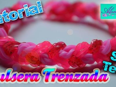 ♥ Tutorial: Pulsera trenzada de gomitas (sin telar) ♥