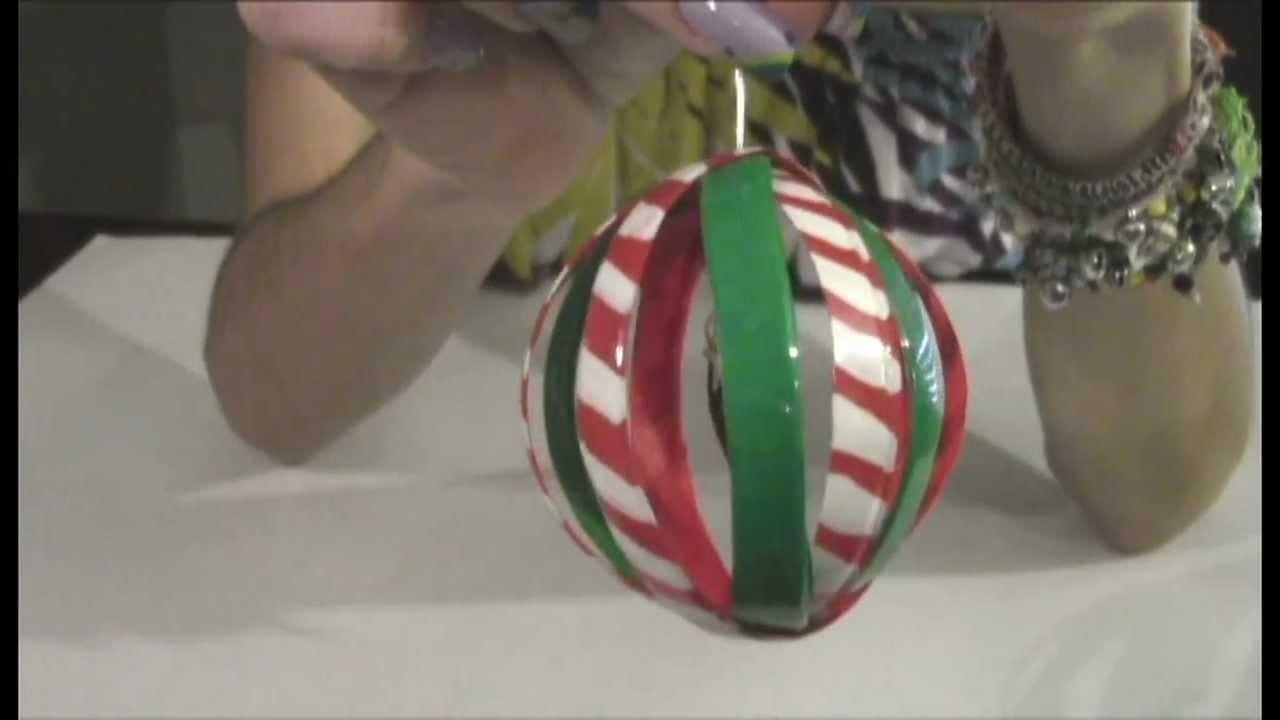 Tutorial Reciclaje: Esfera para el Árbol de Navidad