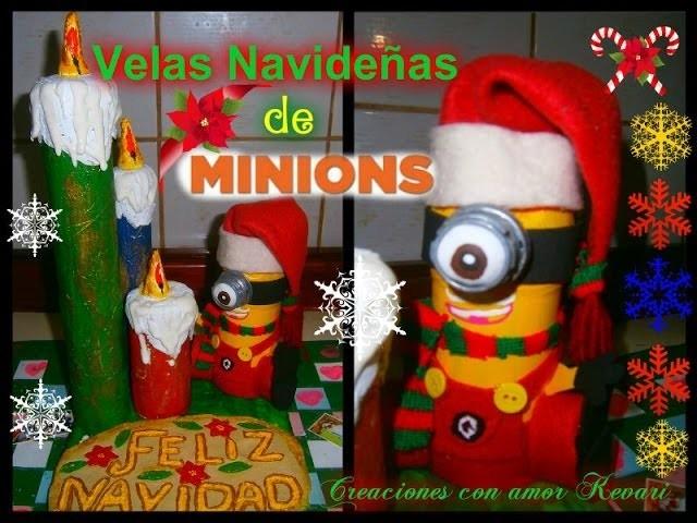 ❄Velas Navideñas de Minions (Como hacer un minions,Material Reciclado).❄ Minion Christmas Candles❄