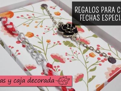 Caja decorada con dos pulseras femeninas - El regalo perfecto para chicas