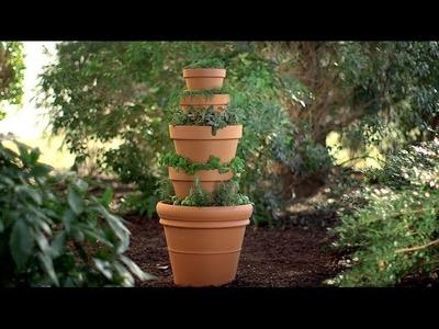 Cómo crear una torre de hierbas