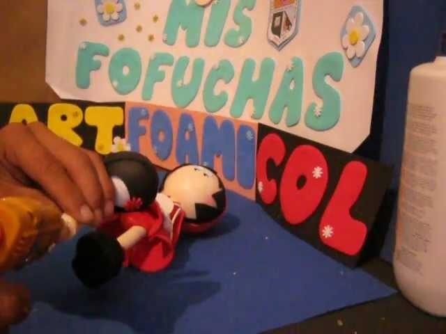 Como Hacer Muñeca 3d Fofucha Foami goma-eva termoformada caperucita roja Foamy doll artfoamicol