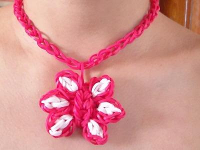 """Como Hacer un Collar de Gomitas en Forma de Flor Para el """"Dia De Las Madres"""""""