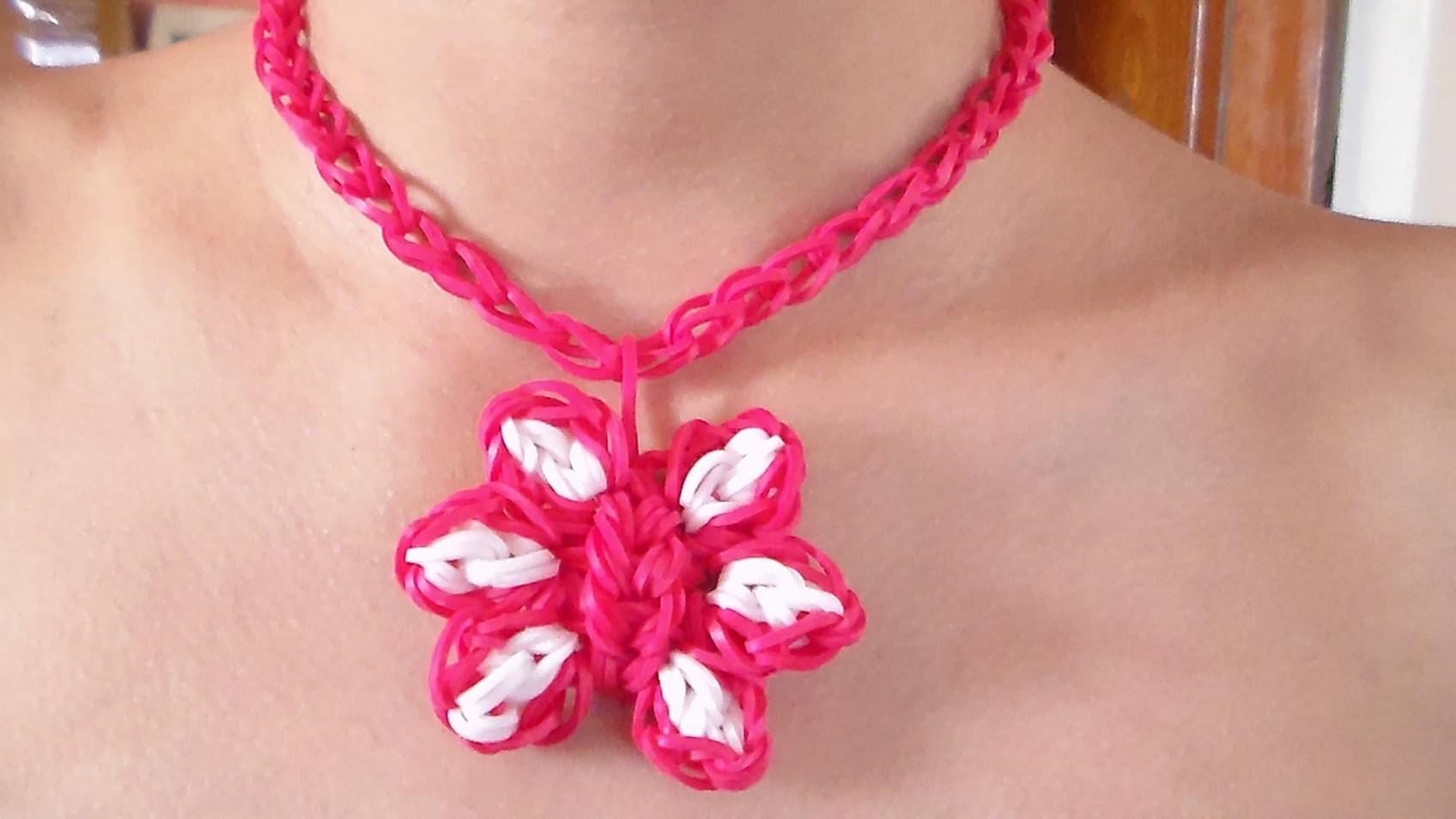 Como Hacer un Collar de Gomitas en Forma de Flor Para el