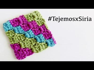 Cuadrado C2C (de esquina a esquina) a Crochet - #LaMantaDeLaVida #TejemosxSiria