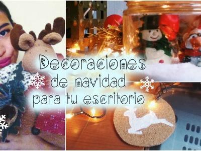 Decoraciones navideñas para tu escritorio!