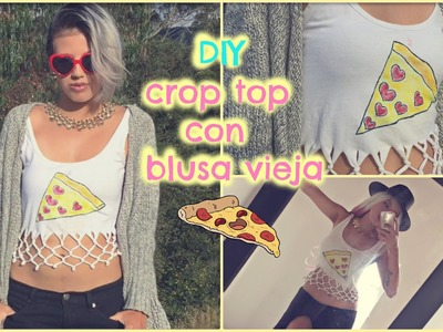 DIY crop top pizza