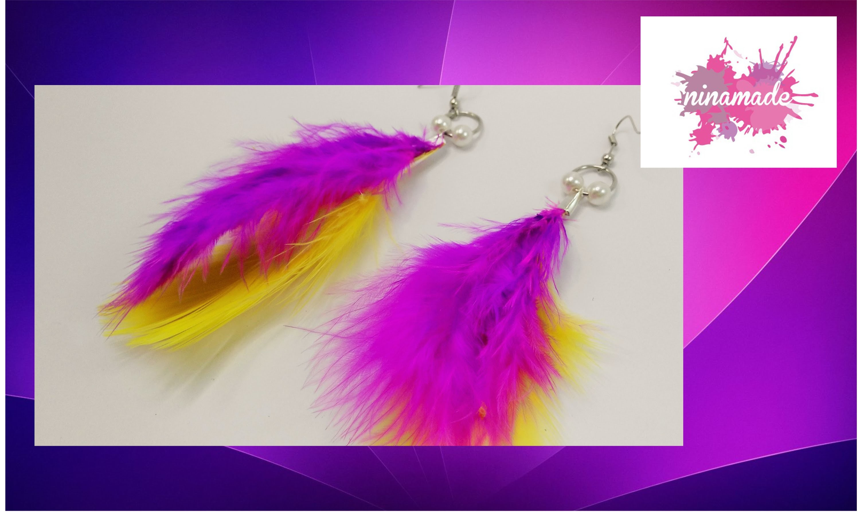 DIY. Pendientes con plumas. Muy fácil!!. Earrings with feathers.Very easy!!!