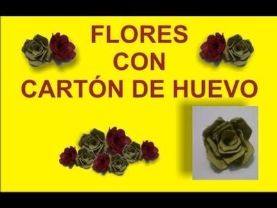 FLORES DE CARTÓN HUEVO