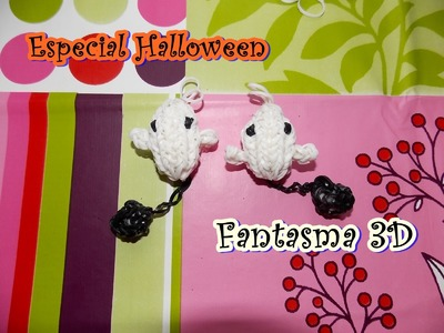 HALLOWEEN fantasma 3D.  Ghost 3D on rainbow loom