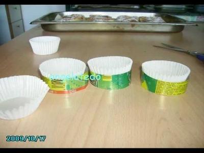 Lata de refresco, cómo hacer soportes para moldes de magdalenas.
