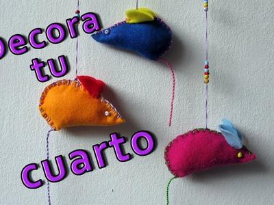 Manualidades para decorar - Móvil de ratoncitos - Manualidades para todos