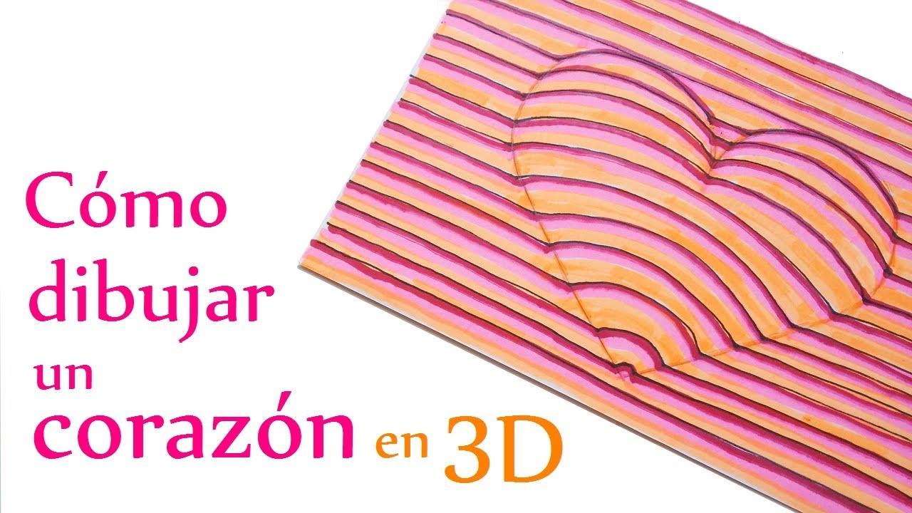 Manualidades para Niños: Cómo dibujar un CORAZÓN en 3D (muy fácil) - Innova Manualidades