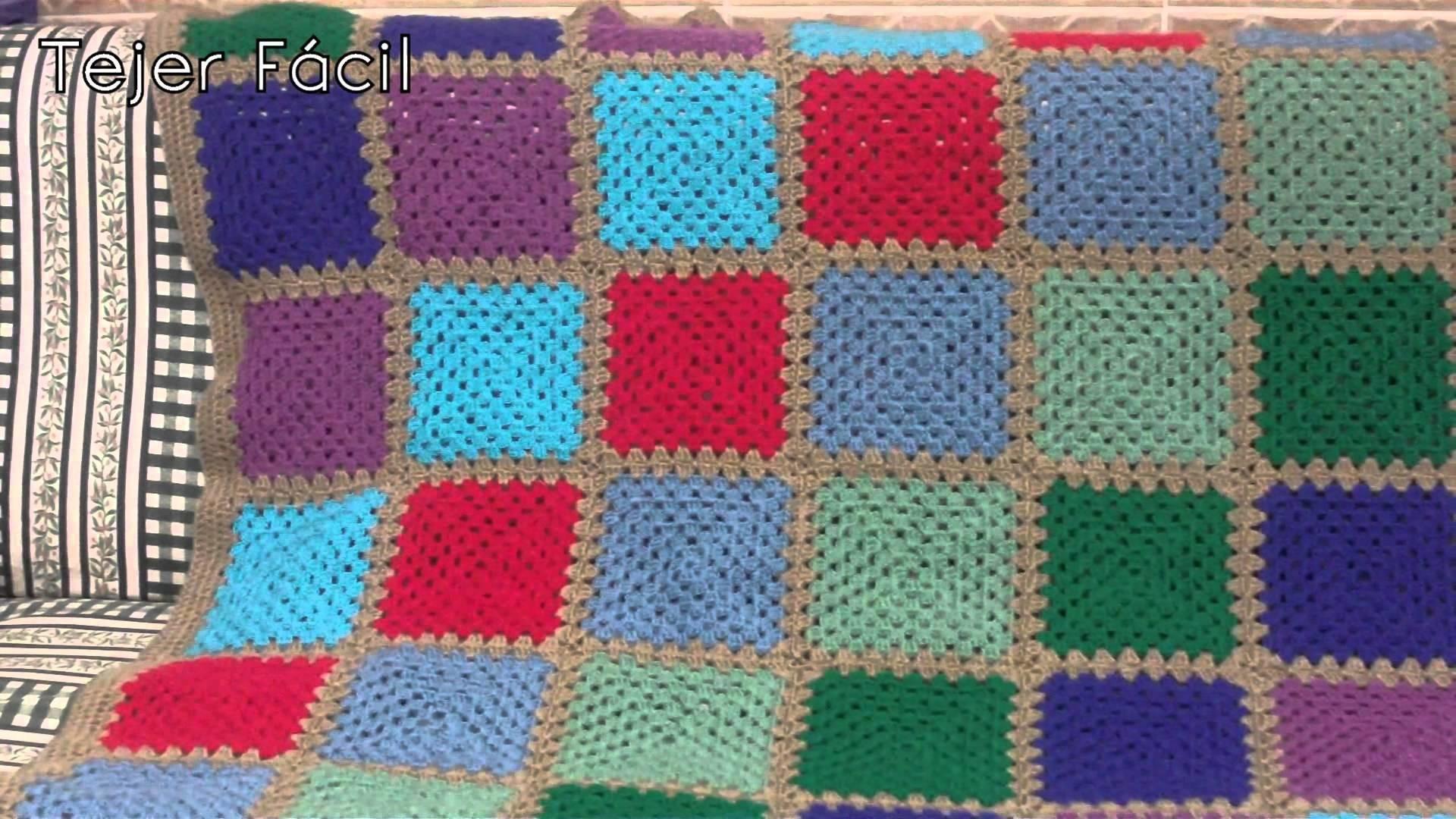 Mi Proyecto Ganchillo.Manta Ganchillo + Cojin - [Tejer Fácil]